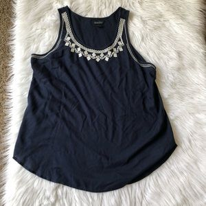 Lucky Brand navy tank top, Large